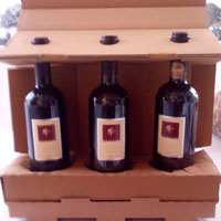 Packaging with wine